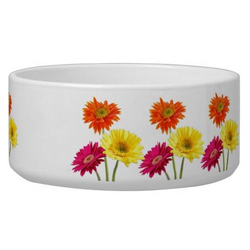 Gerbera Daisies Dog Water Bowl