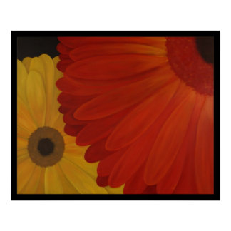Gerbera Daisies from Original Oil on Canvas Poster