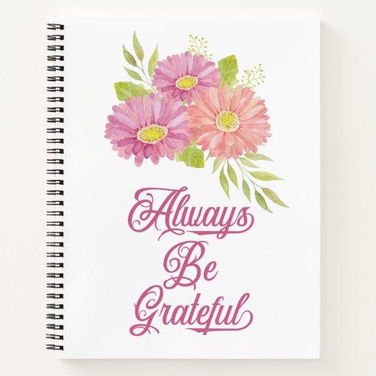 Gerbera Daisies Grateful Journal