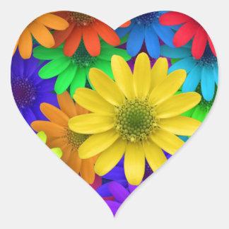 Gerbera Daisies Heart Sticker