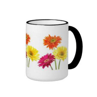 Gerbera Daisies Ringer Coffee Mug