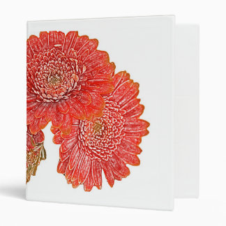 Gerbera daisies notebook binder