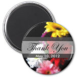 Gerbera Daisy 3 Thank You Refrigerator Magnets
