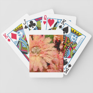Gerbera Daisy Abstract Bicycle Playing Cards