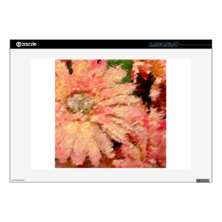 """Gerbera Daisy Abstract Decals For 15"""" Laptops"""