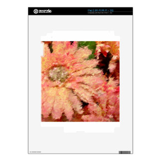 Gerbera Daisy Abstract Decals For The iPad 2