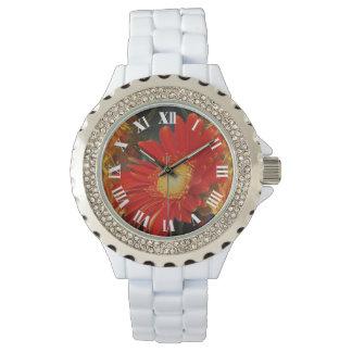 Gerbera Daisy and sunset Wristwatch