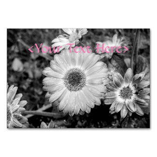 Gerbera Daisy Black & White Photograph Card
