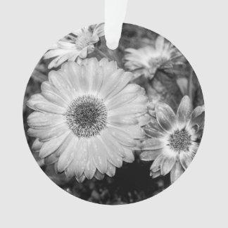 Gerbera Daisy Black & White Photograph Ornament