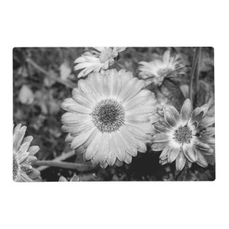 Gerbera Daisy Black & White Photograph Placemat