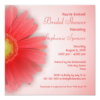 Gerbera Daisy Bridal Shower Invitation