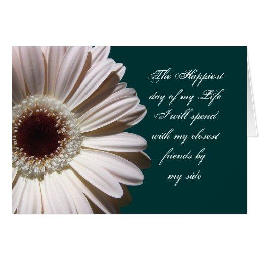 Gerbera Daisy/ Bridesmaid Stationery Note Card