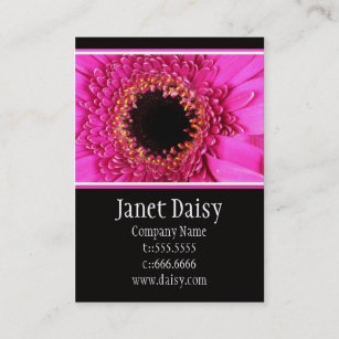 Hot pink daisy business cards zazzle gerbera daisy business card template fbccfo Choice Image