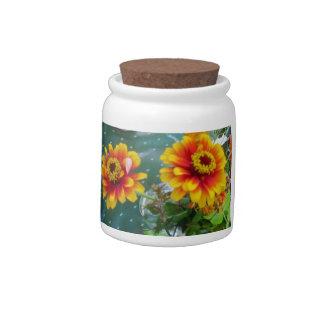 Gerbera Daisy Candy Jar
