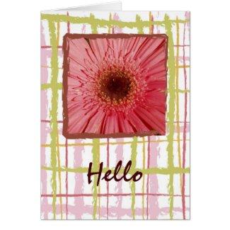Gerbera Daisy Card card