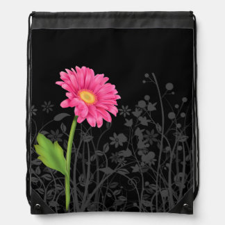 Gerbera Daisy * choose background color Drawstring Bag