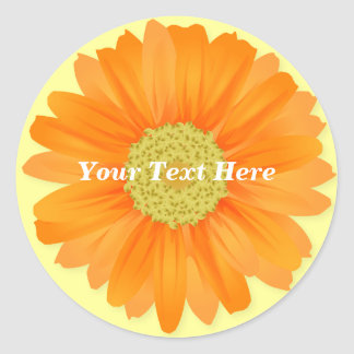 Gerbera Daisy Customizable Sticker