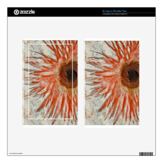 Gerbera Daisy Eye Skins For Kindle Fire