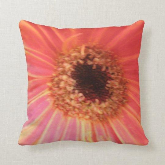 Gerbera Daisy Flower Pillow
