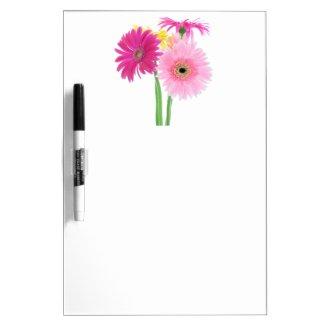 Gerbera Daisy Flowers Dry Erase Boards