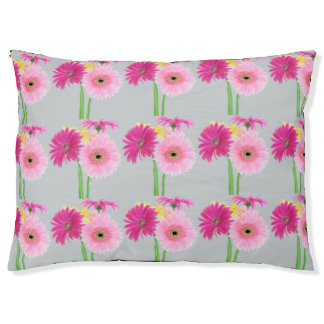 Gerbera Daisy Flowers Large Dog Bed