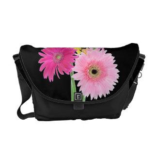 Gerbera Daisy Flowers Messenger Bags
