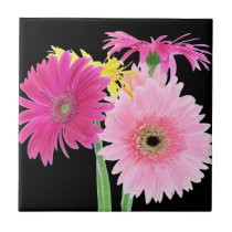 Gerbera Daisy Flowers Tile