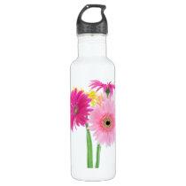 Gerbera Daisy Flowers Water Bottle