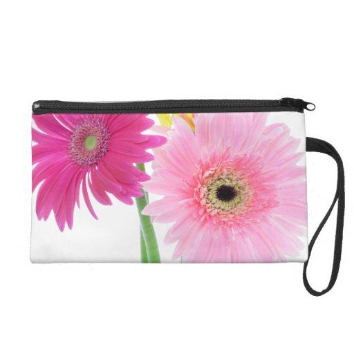 Gerbera Daisy Flowers Wristlet Purse