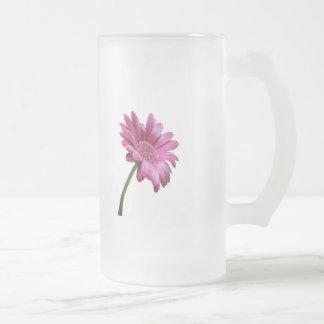 Gerbera Daisy Frosted Beer Mug