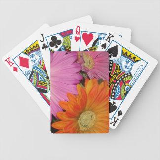Gerbera Daisy Garden Bicycle Playing Cards