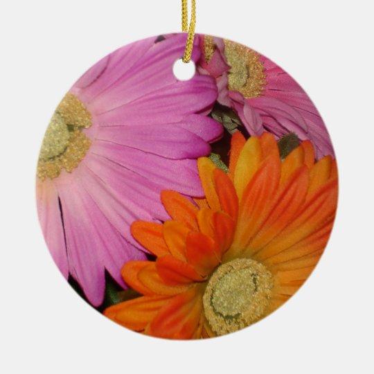 Gerbera Daisy Garden Ceramic Ornament