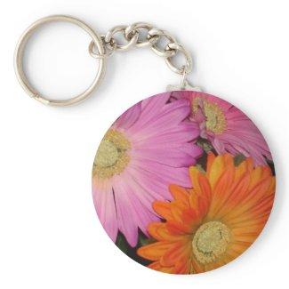 Gerbera Daisy Garden Key Ring