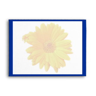 Gerbera Daisy (Gerbera hybrida) Thank You Envelope