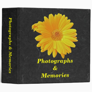 Gerbera Daisy (Gerbera hybrida) - Yellow 3 Ring Binder