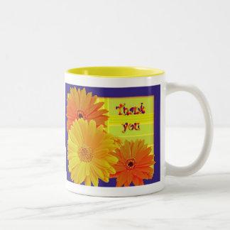 Gerbera Daisy (Gerbera hybrida) - Yellow Two-Tone Coffee Mug
