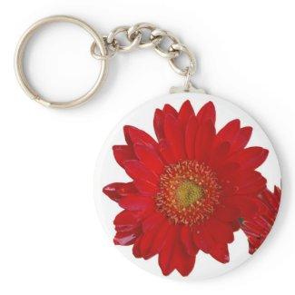 Gerbera Daisy Keychain keychain