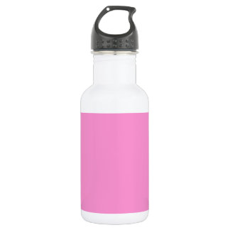 Gerbera Daisy - Light Pink Background. Chic Color 18oz Water Bottle