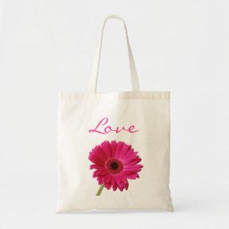Gerbera Daisy Love Jumbo Canvas Tote Bag