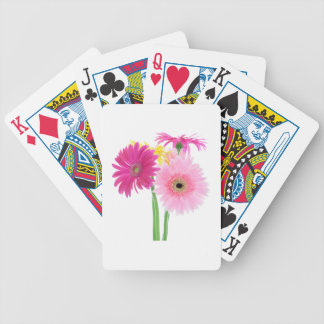 Gerbera Daisy Piink Flowers Bicycle Playing Cards