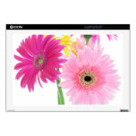 """Gerbera Daisy Piink Flowers Decals For 17"""" Laptops"""
