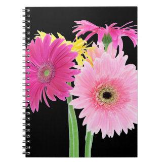 Gerbera Daisy Piink Flowers Spiral Notebooks