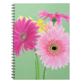 Gerbera Daisy Piink Flowers Spiral Note Book