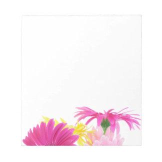 Gerbera Daisy Piink Flowers Notepads