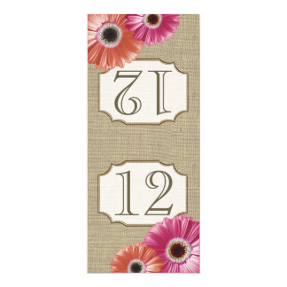 Gerbera Daisy Pink and Coral Table Number