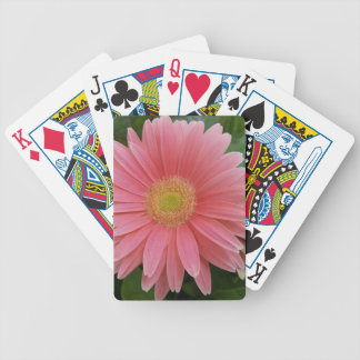 Gerbera Daisy Pink Bicycle Playing Cards