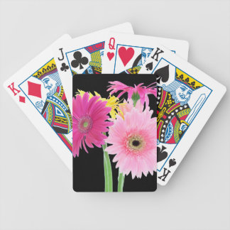 Gerbera Daisy Pink Flowers Bicycle Playing Cards