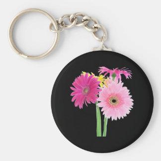 Gerbera Daisy Pink Keychains