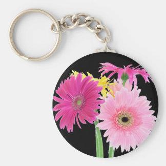 Gerbera Daisy Pink Keychain