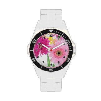 Gerbera Daisy Pink Wrist Watches